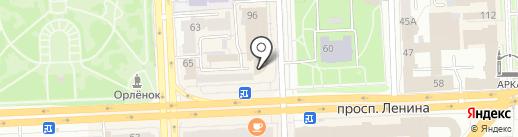 Платье на карте Челябинска