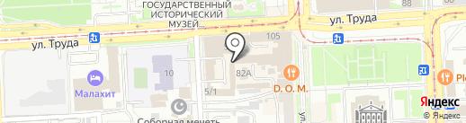 Банкомат, Уральский транспортный банк, ПАО на карте Челябинска