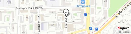 Отдел Военного комиссариата Челябинской области по Металлургическому району на карте Челябинска