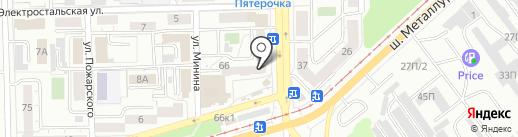 Магазин открыток на карте Челябинска