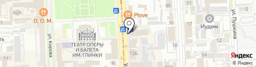 Пункт отбора на военную службу по контракту Челябинской области на карте Челябинска