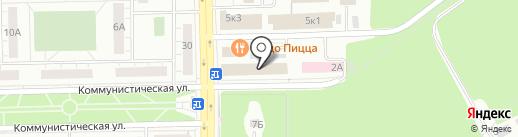 Сантел на карте Челябинска