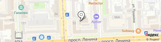Аспект на карте Челябинска