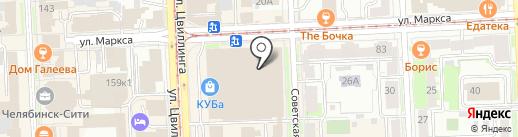 Yota на карте Челябинска