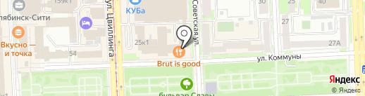 Белые росы на карте Челябинска