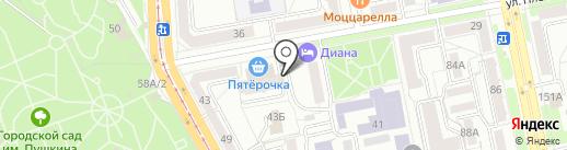 Комната на карте Челябинска