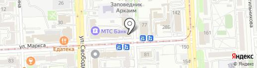 Охрана на карте Челябинска