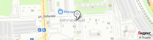 Автостоянка на карте Челябинска