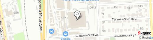 УАЗ-Авто-запчасть на карте Челябинска