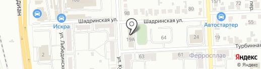 ВизитАвто на карте Челябинска