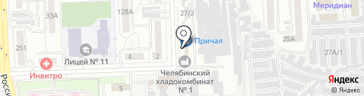 Пункт приема стеклотары на карте Челябинска