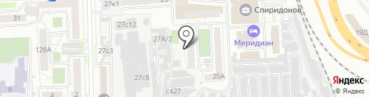 Авангард на карте Челябинска