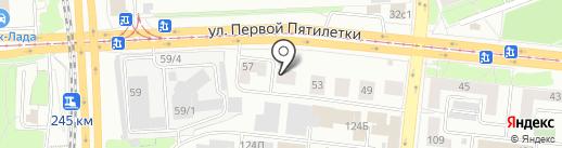 Горизонт на карте Челябинска