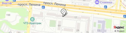 Тэк на карте Челябинска