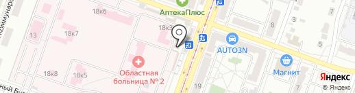 Оптика на карте Челябинска