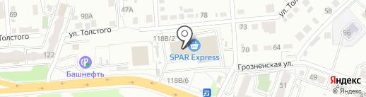 Красное & Белое на карте Челябинска