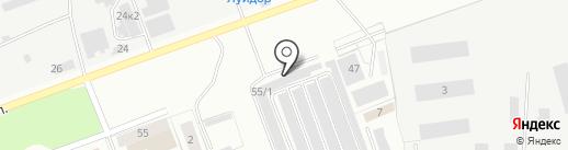 На Горке на карте Челябинска