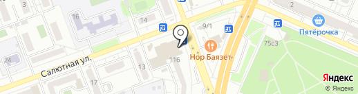 Магазин по продаже и обмену книг на карте Челябинска