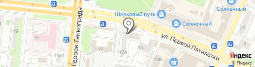 Магазин свежего хлеба на карте Челябинска