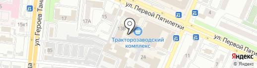 Магазин одноразовой посуды и упаковки на карте Челябинска