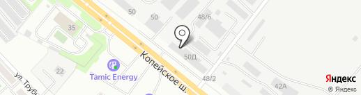 Альфа-моторс на карте Челябинска