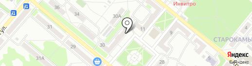 Магазин канцелярии и детских товаров на карте Копейска