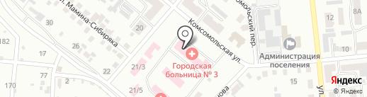 Детская поликлиника, Городская больница №3 на карте Копейска