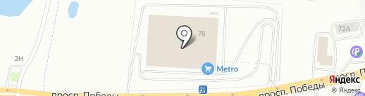 METRO на карте Копейска