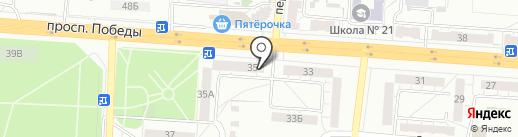 Салон-магазин дверей на карте Копейска