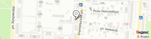 Продуктовый магазин на Учительской на карте Копейска