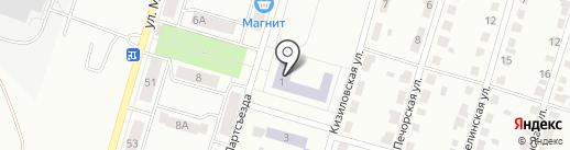 Средняя общеобразовательная школа №45 на карте Копейска
