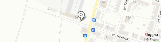 Автостоянка на карте Копейска
