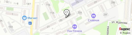 Почтовое отделение №25 на карте Копейска