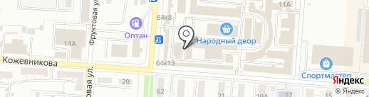Магазин крепежных изделий и фурнитуры на карте Копейска