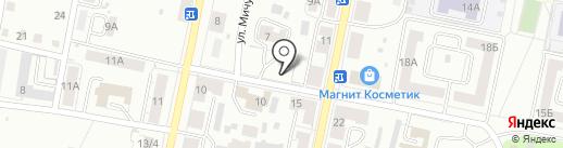 Тимоша на карте Копейска