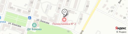 Поликлиника №2, Городская больница №3 на карте Копейска