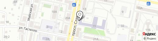 Челябинский техникум текстильной и легкой промышленности на карте Копейска