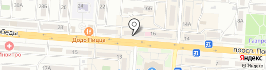 Чебаркульская птица на карте Копейска