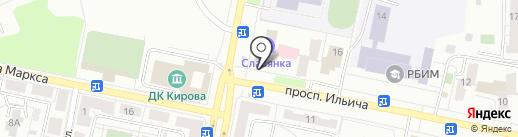 Уральская швейная мануфактура на карте Копейска