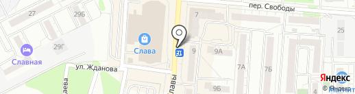 Русский фейерверк на карте Копейска