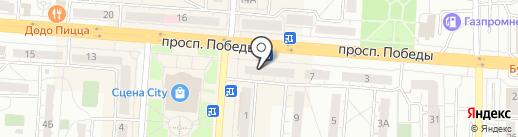 Банкомат, Почта банк, ПАО на карте Копейска