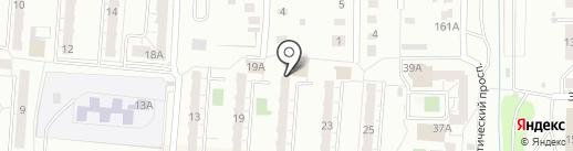 Почтовое отделение №17 на карте Копейска