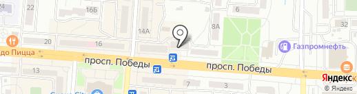 Продуктовый магазин на проспекте Победы на карте Копейска