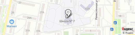 Средняя общеобразовательная школа №7 на карте Копейска