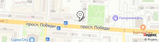 Виста-Центр на карте Копейска