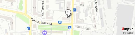 Кировский на карте Копейска
