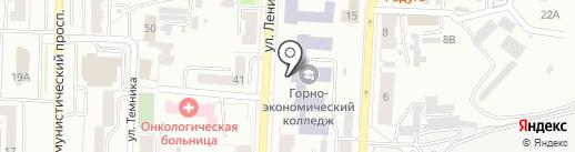 Политех на карте Копейска