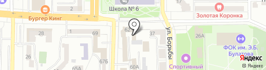ГИБДД г. Копейска на карте Копейска