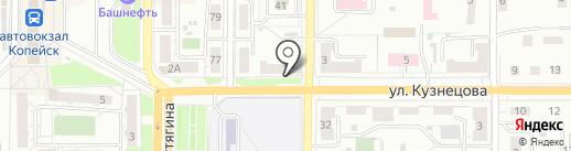 Почтовое отделение №1 на карте Копейска
