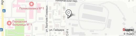 Эвэн на карте Копейска